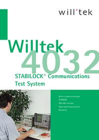 Fiche technique Willtek 4032