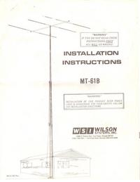 manuel de réparation Wilson MT-61B