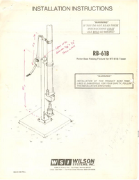 Manual del usuario Wilson RB-61B