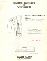 Manual del usuario Wilson EW-45