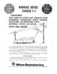 Manuale d'uso Wilson WV-1