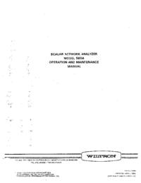 Service et Manuel de l'utilisateur Wiltron 560A