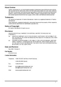 Manuale d'uso Xantrex XDL 35-5P