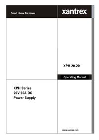 Manuale d'uso Xantrex XPH 20-20