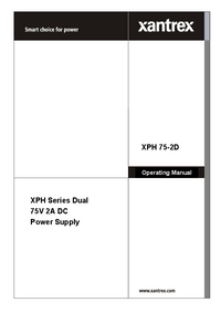 Manual do Usuário Xantrex XPH 75-2D