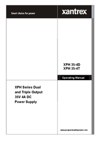 Manual do Usuário Xantrex XPH 35-4D