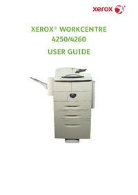 User Manual Xerox WorkCentre 4260 X