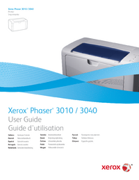 Manuel de l'utilisateur Xerox Phaser 3040