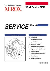 Service Manual Xerox WorkCentre PE16