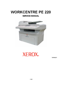 Service Manual Xerox WORKCENTRE PE 220