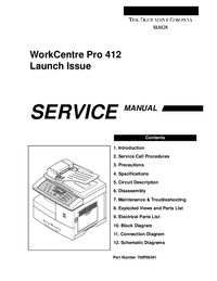 Manual de servicio Xerox WorkCentre Pro 412.