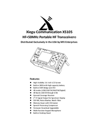 Instrukcja obsługi Xiegu X5105