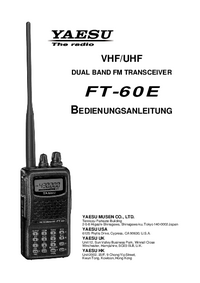 Gebruikershandleiding Yaesu FT-60E