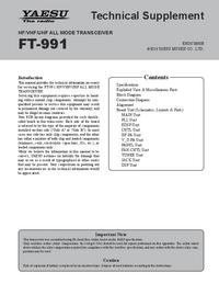 manuel de réparation Yaesu FT-991