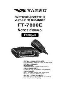 Manual del usuario Yaesu FT-7800E