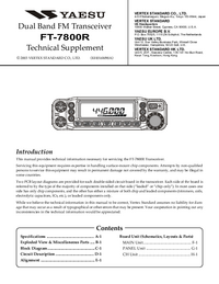 Manual de serviço Yaesu FT-7800R