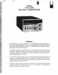 Руководство по техническому обслуживанию Yaesu FTV-107R