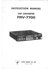 Serviceanleitung Yaesu FRV-7700