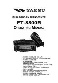User Manual Yaesu FT-8800R