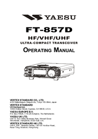 Manual del usuario Yaesu FT-857D