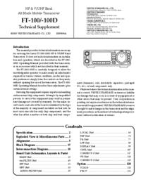 Service Manual Yaesu FT-100D