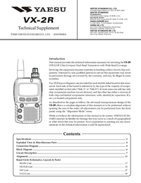 Manual de serviço Yaesu VX-2R