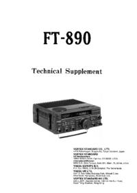 manuel de réparation Yaesu FT-890