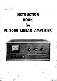 Service and User Manual Yaesu FL-2000