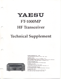 Serviço Manual Supplement Yaesu FT-1000MP