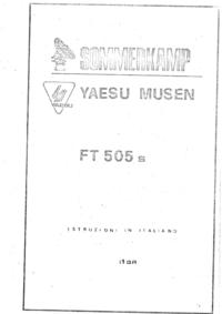 Manual do Usuário Yaesu FT 505 s