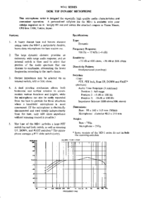 Datenblatt Yaesu MD-1 Series