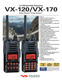 Datasheet Yaesu VX-170