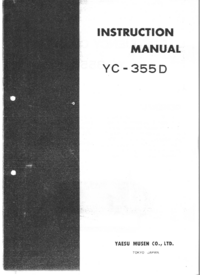 Service and User Manual Yaesu YC-355D