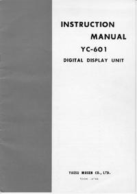Service et Manuel de l'utilisateur Yaesu YC-601