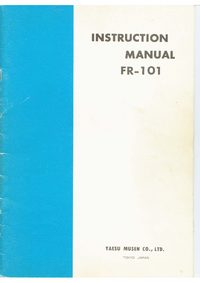 Service and User Manual Yaesu FR-101