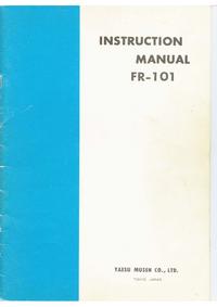 Service- und Bedienungsanleitung Yaesu FR-101