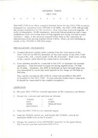 Instrukcja obsługi Yaesu FRT-7700