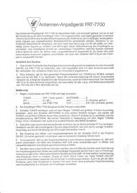 User Manual with schematics Yaesu FRT-7700