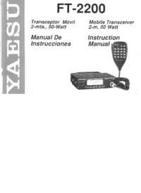 Manual del usuario Yaesu FT-2200