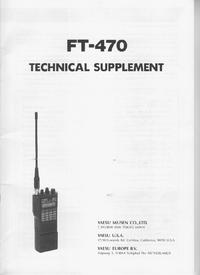 Instrukcja serwisowa Yaesu FT-470