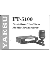 User Manual Yaesu FT-5100