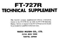 Manual de serviço Yaesu FT-727R