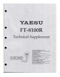 manuel de réparation Yaesu FT-8100R
