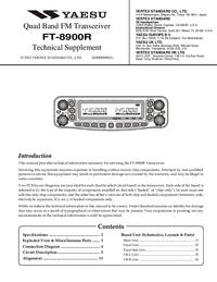 Instrukcja serwisowa Yaesu FT-8900R