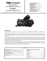 Service Manual Yaesu FT-897