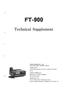 Service Manual Yaesu FT-900