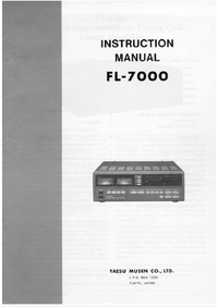 Manual do Usuário, Cirquit Diagrama Yaesu FL-7000