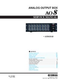 Manual de serviço Yamaha AO8