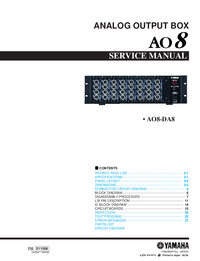 Manuale di servizio Yamaha AO8
