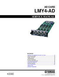 Manuale di servizio Yamaha LMY4-AD